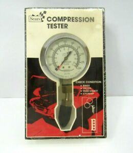 New Vintage Compression Tester Sears Roebuck Co Universal Nose Cone Sealed Usa