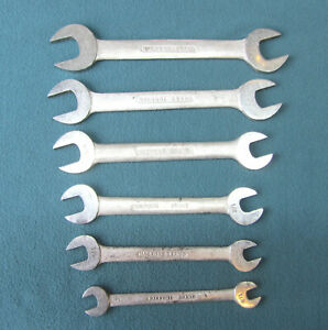 Set Of 6 Macrome Open Ended Spanners Whitworth