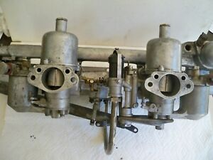 Jaguar Xk150 60 62 Su Hd6 Carburetor Set Auc 957 Manifold Original Equip