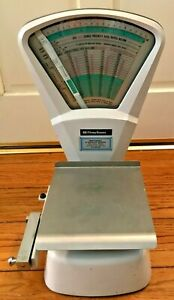 Vintage Pitney Bowes Postal Scale Large Weights Up To 10 Pounds Works