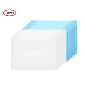 10plastic Water Resistant A4 Paper Document File Holder Organizer W press Button