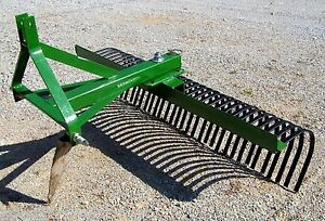 New 60 Tri Landscape Rake rock Rake free 1000 Mile Delivery From Kentucky