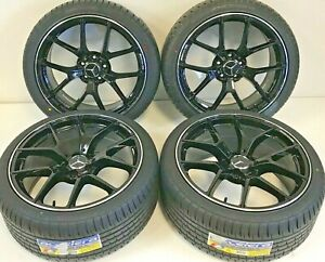 19 Staggered Wheels Rims Tires Fit Mercedes Benz Amg Black S C E Class Y Spoke