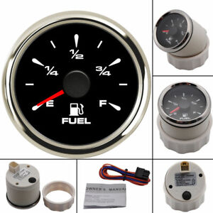 Waterproof 52mm Boat Car Fuel Level Gauge 7 Color Led For Car Motorcycle Yacht