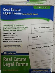 Adams Real Estate Legal Forms Kit 8 1 2 X 11 Brand New Sealed