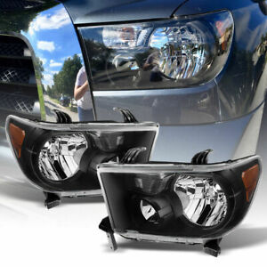 2007 13 Toyota Tundra Headlights 2008 2017 Sequoia Black Headlights Pair