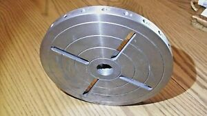 Woodworking Lathe Plate 8 Diameter 1 1 8 x 8 Left Hand Thd With 24 Index Holes