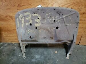 Original 1933 1934 Ford Pickup Truck Firewall Fire Wall Cowl