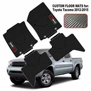 For Toyota Tacoma 2012 2015 Full Set Car Floor Mats All Weather Protection