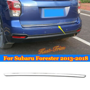 Fit For Subaru Forester 2013 2018 Stainless Chrome Rear Trunk Lid Cover Trim