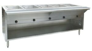 5 full Pan Nsf Restaurant Electric Steam Table Buffet Food Warmer 79 240v