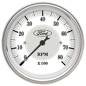 Autometer 880088 Ford Racing Series In Dash Tachometer 3 1 8 8k Rpm 4 6 8 Cyl