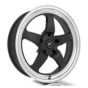 Forgestar F091 D5 Drag 18x5 5x120 23et Gloss Blk Mach Wheel