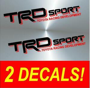 Trd Vinyl Decal Stickers Black Red Toyota Truck Sport Tacoma