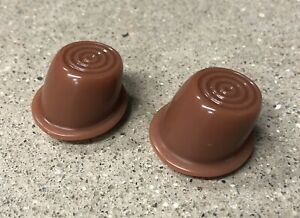 1946 1951 Willys Jeep Wagon Delivery Truck Interior Door Button Pair New Brown
