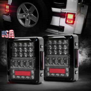 2020 Newest Pair Led Tail Lights Rear Lamps Clear Lens For Jeep Wrangler Jk Jku
