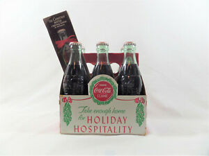 Vintage 1988 Coca-Cola Six Pack-Limited Christmas Edition-With Included Caddy