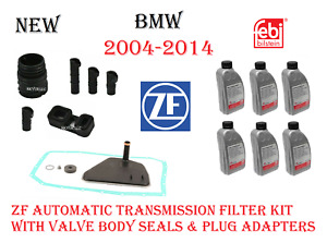 Transmission Filter Kit With Valve Body Sleeves Adapter X6 Trans Fluid For Bmw