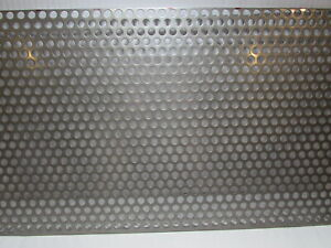 3 8 Hole 16 Gauge 304 Stainless Steel Perforated Sheet 12 1 2 X 16 3 4
