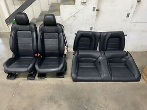 2015 2017 Mustang Gt Coupe Front And Rear Seats Black Leather Oem