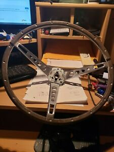 1965 66 Ford Mustang Fairlane Deluxe Wood Steering Wheel Correct Spokes Center