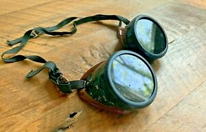 Vintage Steampunk Aviator Safety Or Welder Goggles Norton Z87 Usa Bakelite Frame