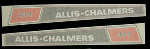 Allis Chalmers 414 Lawn And Garden Vinyl Decals