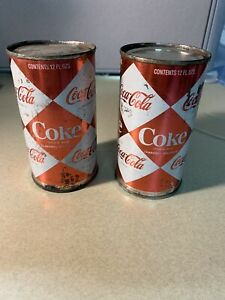 !!!RARE!!Coca Cola Diamond Cans EMPTY cans 1960s Unopened No Open Tops