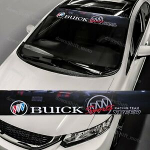53 X 8 Buick Front Window Windshield Black Vinyl Banner Decal Sticker For Buick