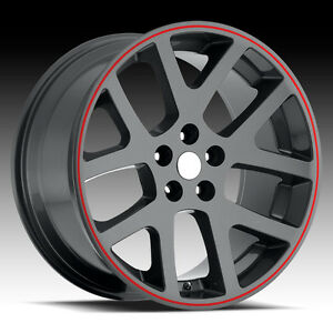 20 Inch Viper Replica Gray Wheels Rims tires Fit 300 Charger Magnum Challenger