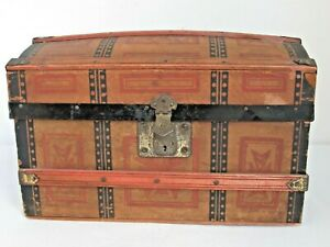 Antique Dome Top Doll Trunk C 1880