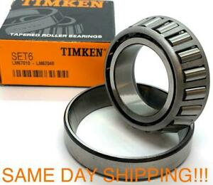 Timken Lm67048 lm67010 1 1 4 Bore Tapered Roller Wheel Bearing Set A6