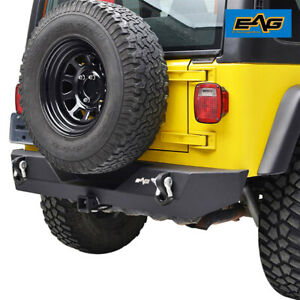 Eag Offroad Rear Bumper With Hitch Receiver Fit For 87 06 Jeep Wrangler Yj Tj