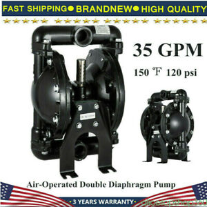 Air operated Double Diaphragm Pump 1 Inlet Outlet 35 Gpm 120 Psi High Quality