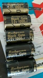 Rubycon Black Gate 50v 1000 f Capasitor 5 Pcs