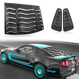 Rear Side Window Scoop Louvers For 2005 2014 Ford Mustang Sun Shade Shield Cover