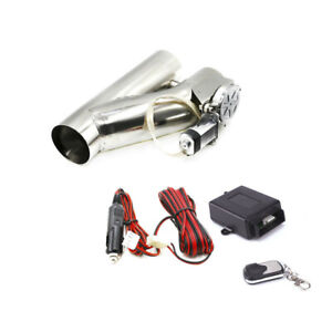 2 25 57mm Electric Exhaust Valve Catback Downpipe Y pipe Cut System Remote Kit