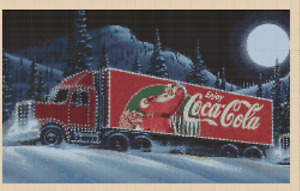 Coca Cola Christmas Truck Counted Cross Stitch Chart No. 4-311/2