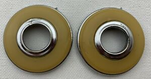 Pair 1946 47 48 Oem Mopar Chrysler Dodge Desoto Plymouth Handle Crank Escutcheon