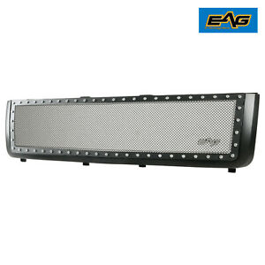 Eag Mesh Rivet Grille Stainless Steel Fit 11 14 Chevy Silverado 2500 3500