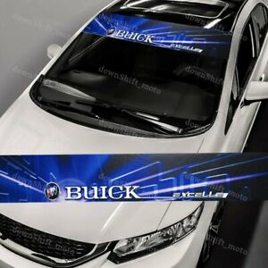 53 X 8 Buick Front Window Windshield Color Vinyl Banner Decal Sticker For Buick