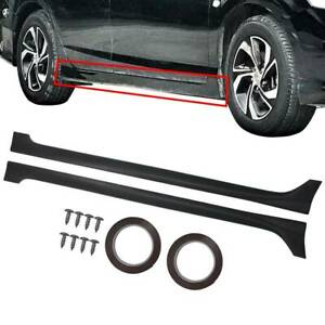 For 2013 2017 Honda Accord 4 Door Jdm Style Side Skirts Body Kit Black Pp Mod Vi