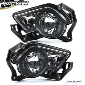 Clear Lens Fog Light For 2002 2006 Chevy Avalanche 1500 With Body Cladding