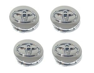 4pc Toyota Chrome Logo Wheel Center Cap Avalon Camry Highlander Oem 62mm 08020