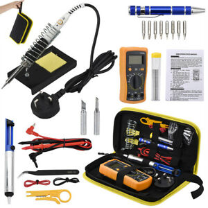 Soldering Iron Full Kit Electronic Welding Irons Tool 60w Adjustable Temperature
