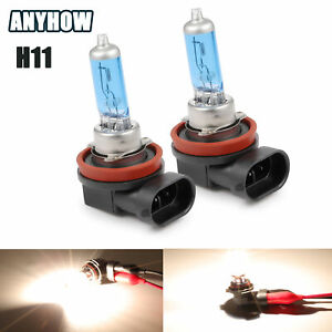 2 X H11 H9 H8 Halogen Headlight 6000k Super White Dc 12v Light Bulbs 55w