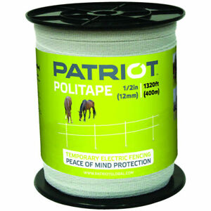 Patriot Politape 1320 Ft Roll 1 2 Electric Fence Wire Horse Poly Tape 809764