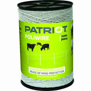 Patriot 822757 Poliwire 1320 Ft Roll Electric Fence Wire Polywire Poly Wire