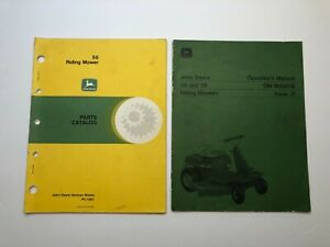 John Deere 55 And 56 Riding Mower Operator s Manual And Parts Catalog Lot