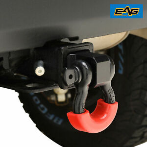 Eag 2 Inch Receiver Hitch D ring Isolator And 3 4 Inch Bow Anchor Shackle